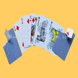Cartes en plastique en gros de tisonnier de casino de cartes de jeu
