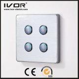 Material da liga de alumínio de painel de toque do interruptor de iluminação de 4 grupos (RD-ST1000L4)