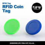 Étiquette passive de pièce de monnaie d'IDENTIFICATION RF