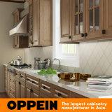 Armario de cocina de madera de la naturaleza de los PP de la cocina grande (OP15-PP07)