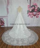 A - linha motivo francês do teste padrão do laço do vestido de casamento