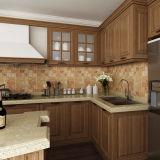 Mobília clássica dos gabinetes de cozinha do projeto dos PP da noz de Oppein (OP14-PP01)