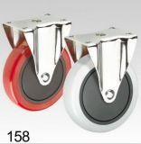 Rotes Belüftung-Rad-steife Platten-Oberseite-Fußrolle