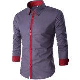 Dresse van van bedrijfs gloednieuwe Mensen Overhemden van de Koker de Toevallige van Overhemden Lange