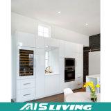 Mobília branca feito-à-medida do gabinete de cozinha da laca (AIS-K115)