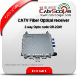 CATV de fibra óptica Receptor / 2 vías óptica o Nodo-2GW