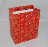 Printed de encargo Kraft Gift Paper Shopping Bag con Cotton Handle