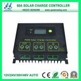 60A Solar Controller Auto 12V/24V/36V/48V PWM Solar Charge Controller (QWSR-LG4860)