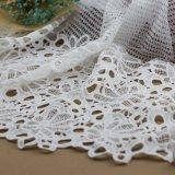Tessuti del merletto del cotone lavorati a maglia Crochet per gli indumenti e gli abiti