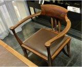 Presidenza esecutiva di Office&Dining +Leather dell'ammortizzatore di legno della noce (WC001)