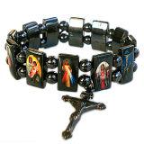 Braccialetto del rosario del san dell'ematite con i branelli di plastica
