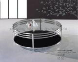 Het eenvoudige Meubilair van de Koffietafel van het Roestvrij staal van het Glas van het Ontwerp Taaie