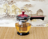 Glass libero Cooking Pot Tea Pot con Straight Handle