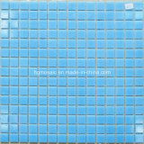 Swimming Pool Building MaterialのためのモザイクTiles Blue Glass Mosaic