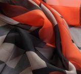 Poliéster Chiffon Scarf com Printing Fashionable