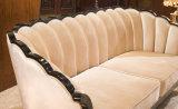 Mobilia nera di legno del sofà per l'ingresso dell'hotel