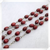 木の数珠のビードのネックレスまたは木のビードの数珠のブレスレットまたは木の数珠のネックレス(IOcr013)