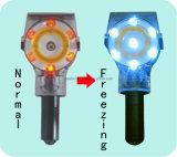 Indicatore luminoso d'avvertimento solare infiammante di sicurezza stradale LED per il cono di traffico