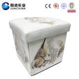 猫PUの革折る収納箱および腰掛け(SCFT00003)