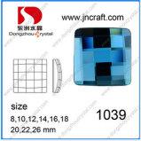 Branelli quadrati di vetro della parte posteriore piana e Rhinestone di cristallo