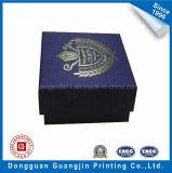Contenitore di regalo speciale del documento lucido di colore blu per l'imballaggio dei monili