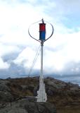 Inicio generador de viento con la batería y el inversor