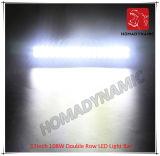 LED 차 빛 17inch 108W 도로 빛과 LED 모는 빛 떨어져 SUV 차 LED를 위해 방수 두 배 줄 LED 표시등 막대