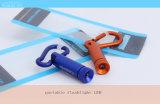 Mini petite lampe-torche bleue portative, lampe-torche multifonctionnelle