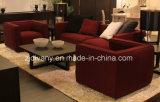 Solo sofá del cuero moderno italiano de la tela (D-62A)