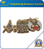 Emblema maçónico do Pin do Lapel do projeto da águia de 32 graus