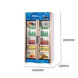 vertical 600L encima del refrigerador de la visualización de la Multi-Puerta de la apertura de la unidad