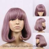 Parrucca sintetica riccia di vendita calda dei capelli femminili dei capelli di modo