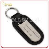 Förderung-Geschenk-Leder-Schlüssel Fob mit unbelegtem Pinsel-Metall