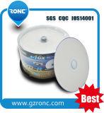 Espaço em branco Printable DVD-R do Inkjet branco