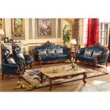 Mobilia del salone con il sofà di cuoio di legno impostato (529)