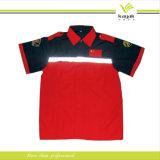 Рубашка пола втулки Workwear высокого качества 2016 померанцовая длинняя (P-99)