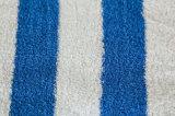 Azul 100% de la raya de la cabaña de las toallas de playa de la toalla de la piscina del algodón