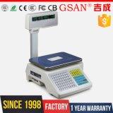Fruit Kitchen Barcode Printing Scale 30kg Balance électronique de pesée