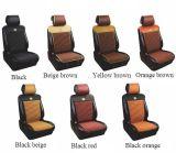 Negro de cuero de cuatro estaciones plano del amortiguador de la PU de la cubierta de asiento de coche