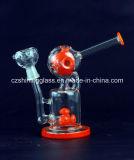 Impianti offshore di vetro del tubo di acqua del riciclatore americano di colore rosso per il narghilé di fumo