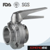 Valvola a farfalla saldata manuale igienica dell'acciaio inossidabile (JN-BV1001)