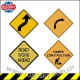 Panneau r3fléchissant en aluminium adapté aux besoins du client de panneau d'avertissement de sécurité routière