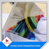 スポーツ・ウェアのための55g、70g、90g、100GSM高品質、低価格の昇華ロール用紙または粘着性の昇華転写紙
