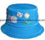 Venda por atacado de dobramento barata feita sob encomenda do chapéu da cubeta da flor