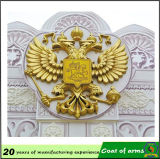 La Russie Gold Plated 3D Double-Headed Eagle Emblem
