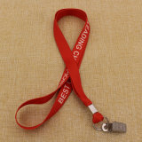 Cheapest all'ingrosso Polyester Printed Lanyards con Safety Buckle