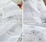 Sistemas cómodos 100% del lecho del estilo simple blanco del algodón de la alta calidad