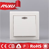 Surface europeo Mounted Switch con Light, Push Button Switch