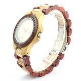 Relógio de madeira Bg267 de quartzo da zebra de madeira barata nova das máquinas de lixar do estilo