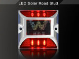 LED de luz solar LED rojo de aluminio Powered Camino Stud Reflector